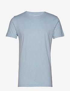ALDER basic tee - GOTS/Vegan - kortärmade t-shirts - sky way melange