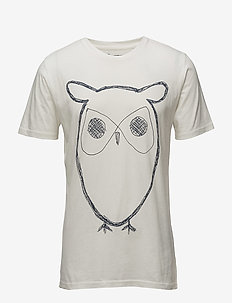 ALDER big owl tee - GOTS/Vegan - t-shirts à manches courtes - star white