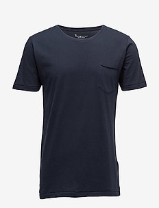 ALDER basic chest pocket tee - GOTS - kortermede t-skjorter - total eclipse