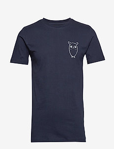 ALDER owl chest tee - GOTS/Vegan - t-shirts à manches courtes - total eclipse