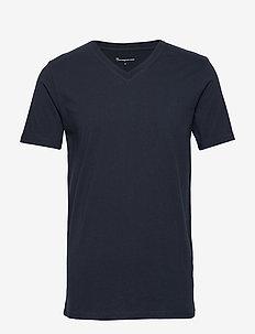 ALDER basic v-neck tee - GOTS/Vegan - short-sleeved t-shirts - total eclipse