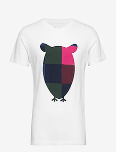 T-shirt with big owl print - GOTS/V - kortermede t-skjorter - bright white