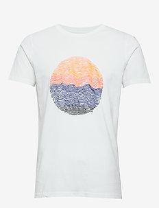 ALDER wave tee - GOTS/Vegan - printed t-shirts - bright white