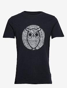 ALDER wave owl tee - GOTS/Vegan - printed t-shirts - total eclipse