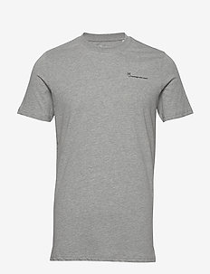 ALDER knowledgecotton tee - GOTS/Ve - podstawowe koszulki - grey melange