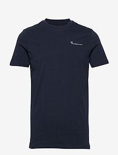 ALDER knowledgecotton tee - GOTS/Ve - basic t-shirts - total eclipse