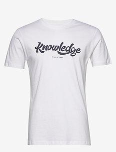 ALDER big knowledge tee - GOTS/Vega - logo t-shirts - bright white