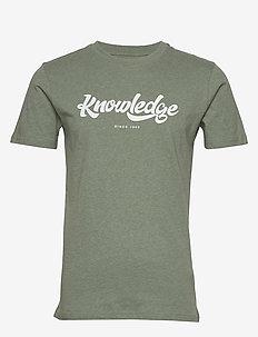ALDER big knowledge tee - GOTS/Vega - logo t-shirts - gren melange