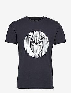 ALDER outline owl tee - GOTS/Vegan - short-sleeved t-shirts - total eclipse