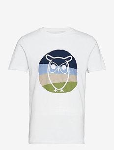ALDER colored owl tee - GOTS/Vegan - short-sleeved t-shirts - bright white