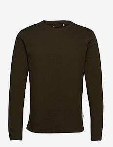 WALNUT heavy long sleeve - GOTS/Veg - basic t-shirts - forrest night
