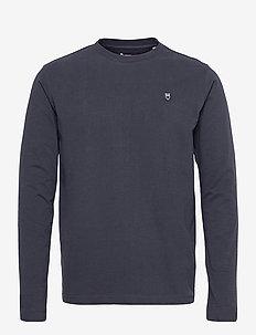 LOCUST badge long sleeve - GOTS/Veg - basic t-shirts - total eclipse