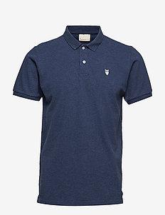 Pique Polo -  GOTS/Vegan - short-sleeved polos - insigna blue melange