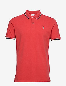 Pique Polo -  GOTS - short-sleeved polos - scarlet melange