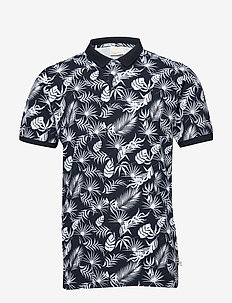 Polo with print - leaf print - GOTS - TOTAL ECLIPSE