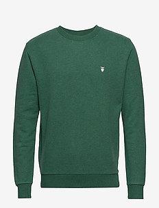 ELM small owl sweat - GOTS/Vegan - basic sweatshirts - black forrest melange
