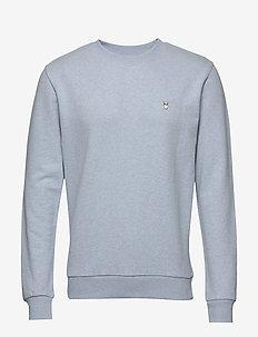 ELM small owl sweat - GOTS/Vegan - basic sweatshirts - sky way melange