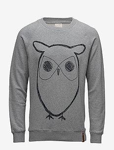 ELM big owl sweat - GOTS/Vegan - sweats - grey melange