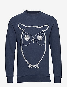 ELM big owl sweat - GOTS/Vegan - svetarit - insigna blue melange