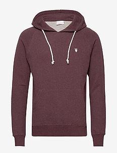 ELM small owl hoodie sweat - GOTS/V - basic sweatshirts - decadent choklade melange