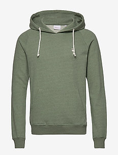 ELM small owl hoodie sweat - GOTS/V - basic sweatshirts - gren melange