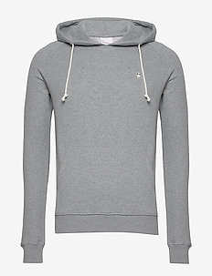 ELM small owl hoodie sweat - GOTS/V - basic sweatshirts - grey melange
