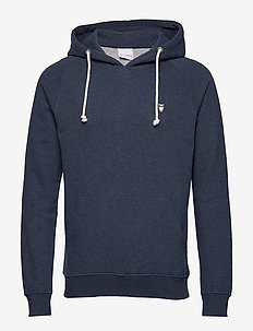 ELM small owl hoodie sweat - GOTS/V - basic sweatshirts - insigna blue melange