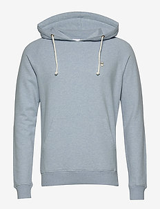 ELM small owl hoodie sweat - GOTS/V - basic sweatshirts - sky way melange