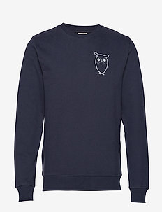 Sweat with owl chest logo - GOTS - TOTAL ECLIPSE