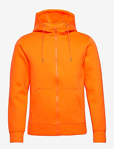 Hoodie neopren with zip - Vegan - basic sweatshirts - persimmon orange