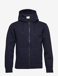 Hoodie neopren with zip - Vegan - basic sweatshirts - total eclipse