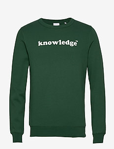 SALLOW knowledge sweat - GOTS/Vegan - sweatshirts - pineneedle