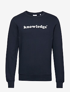 SALLOW knowledge sweat - GOTS/Vegan - sweatshirts - total eclipse