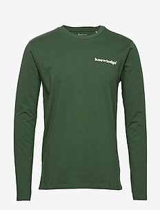 SALLOW signature wave long sleeve - - langermede t-skjorter - pineneedle