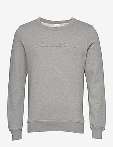 ELM embossed knowledge sweat - GOTS - basic sweatshirts - grey melange