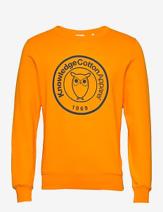 ELM big owl print sweat - GOTS/Vega - oberteile - zennia yellow