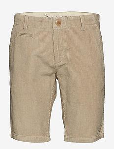 Cordroy shorts - OCS/Vegan - chinos shorts - light feather gray