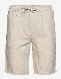 BIRCH loose linen shorts - VEGAN - chinot - light feather gray