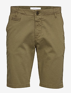 CHUCK regular chino shorts - GOTS/V - short chino - burned olive