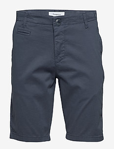 CHUCK regular chino shorts - GOTS/V - chinot - vintage indigo