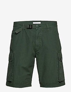 TREK durable rib-stop shorts - GOTS - cargo shorts - pineneedle