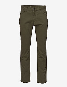 5-pocket stretched jeans - GOTS - casual trousers - burned olive
