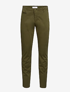 CHUCK regular chino pant - GOTS/Veg - pantalons chino - burned olive