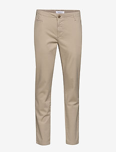 CHUCK regular chino pant - GOTS/Veg - chinos - light feather gray