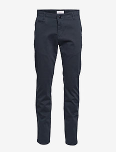 CHUCK regular chino pant - GOTS/Veg - chinot - total eclipse
