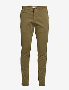 JOE slim chino pant - GOTS/Vegan - pantalons chino - burned olive