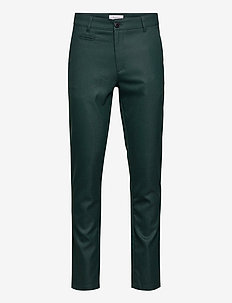 JOE slim recycled pant - GRS/Vegan - puvunhousut - pineneedle