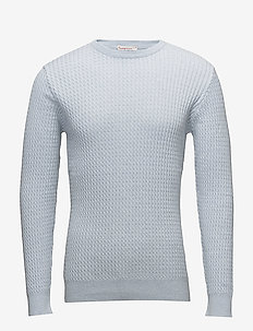 Cotton/Cashmere Cable Knit - GOTS - basic knitwear - skyway