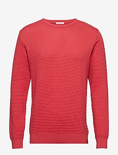 Sailor Pattern Knit - GOTS - SPICED CORAL