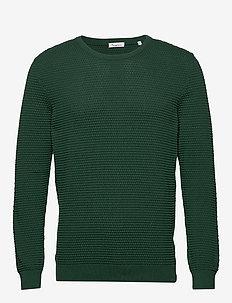 FIELD o-neck sailor knit - GOTS/Veg - perusneuleet - pineneedle